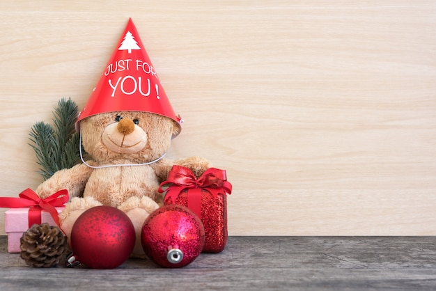 Teddy bear in christmas party
