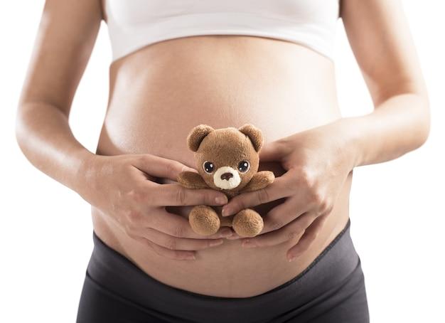 妊娠中のテディベア