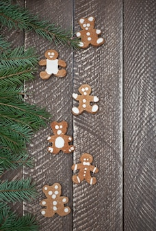 Teddy bear shape sweet gingerbreads
