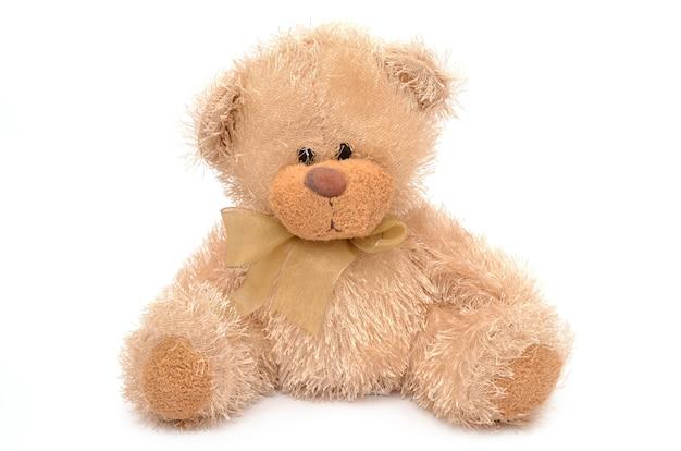 Teddy bear on white surface
