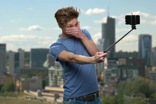 십대 소년 이다 nd 제작 selfie