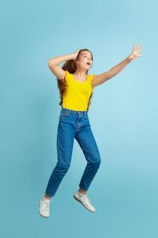 Teen girl jumping