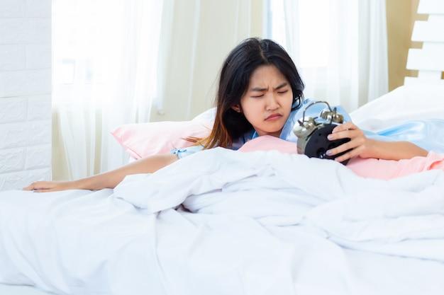 Teenage awakened in the morning late