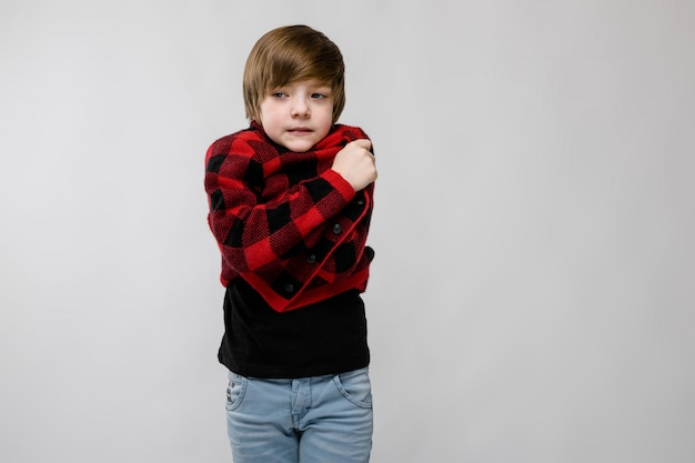 Teenage boy in fashionable clothes