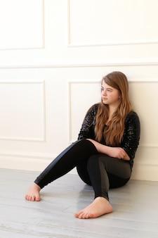Teenage on the floor