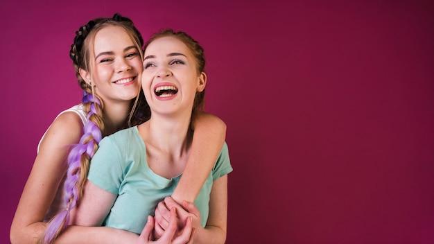 Teenage friends lifestyle concept