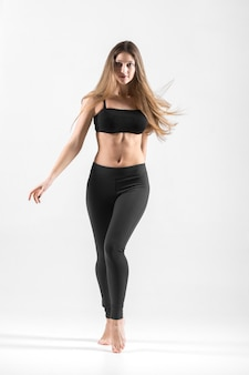 Teenage girl dance workout