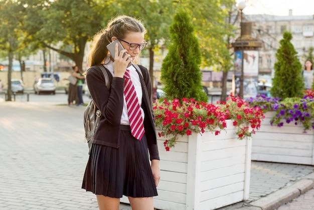 Teenage girl high school student