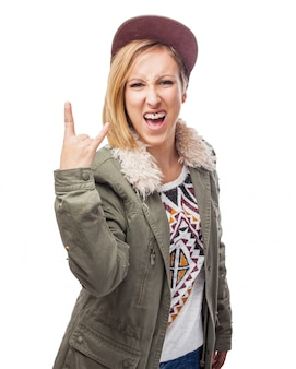Teenage person student cap shirt