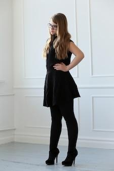Teenage with elegant dress