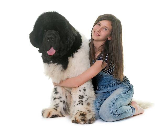 10代とニューファンドランド犬