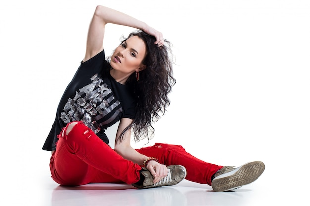 Teenager on the floor