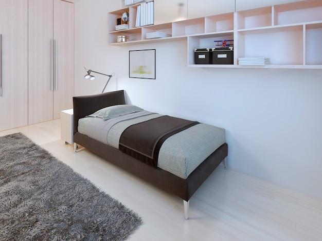 Подростковая спальня в современном стиле.