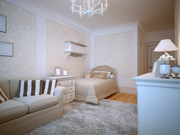 Teenagers bedroom provence design