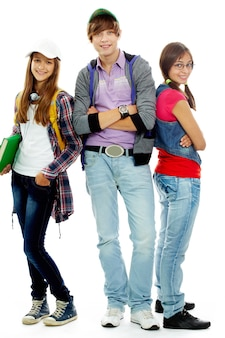 Teens in casual clothes