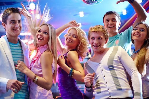 Teens enjoying the nightlife