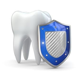 Защита зубов щит и зуб 3d