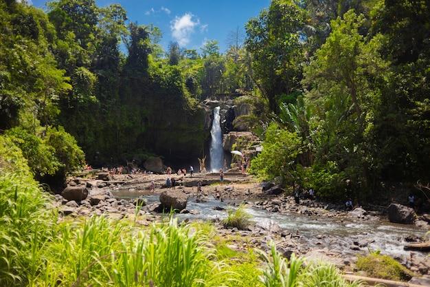 Tegenungan waterfall, ubud in bali, indonesia