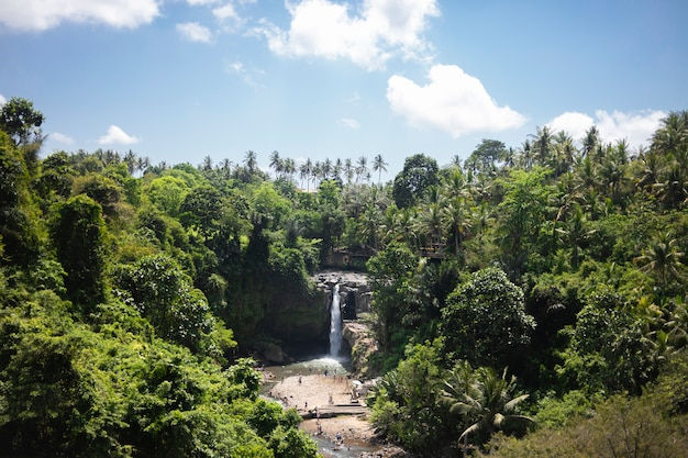 Tegenungan waterfall, ubud in bali, indonesia