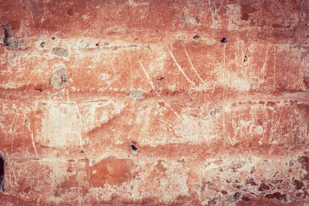 傷のあるteksturaの古い壁のしっくい。デザインと創造性のためにレトロなスタイルまたはヴィンテージで処理する