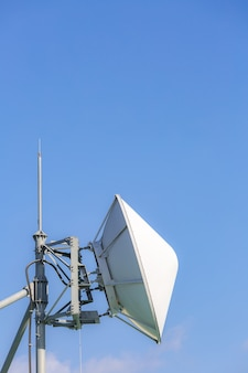 Telecommunication satellite and radio transmitter