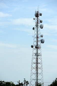 Telecommunication tower antennas