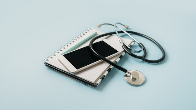 Telemedicine or telehealth virtual visit video visit remote doctor video chat consultation concept