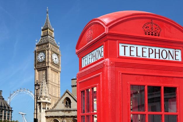 Telephone box with big ben