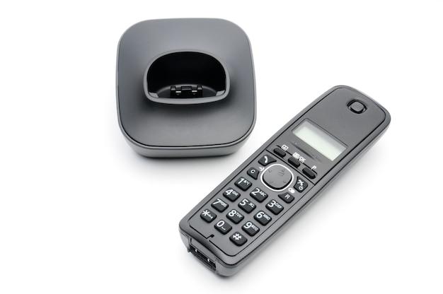 白の都市および長距離回線への通話用の電話の受話器