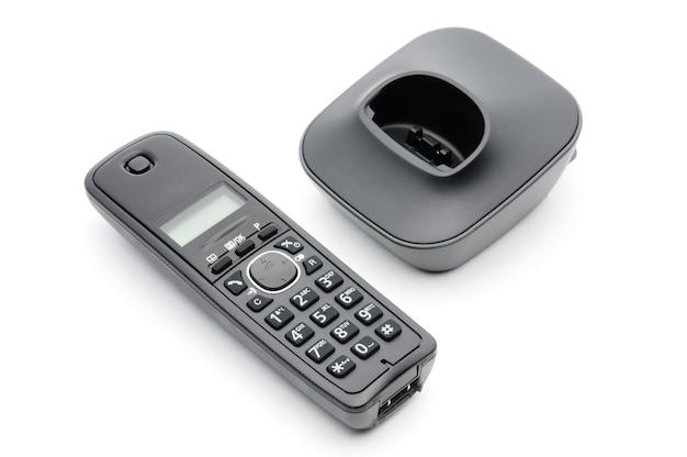 白地の都市部および長距離回線への通話用の受話器 Premium写真