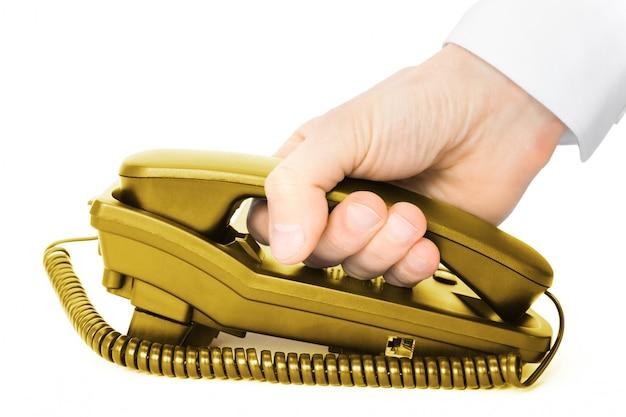 分離の手で受話器