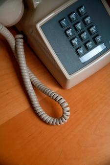 Telephone on wood