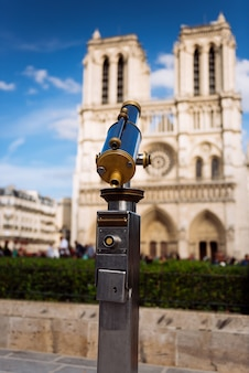 Telescope overlooking for notre dame