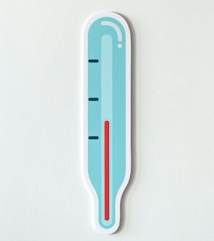 Temperature measurent thermometer icon