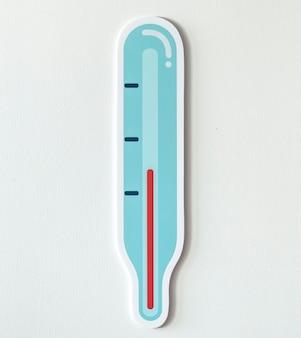 Значок температуры измеряемого термометра