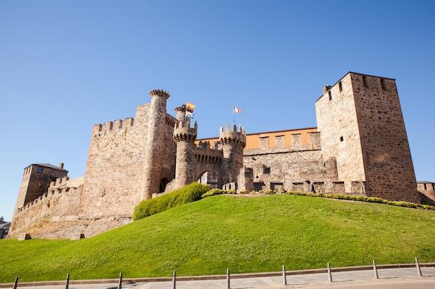 スペイン、ポンフェラーダのテンプル騎士団の城