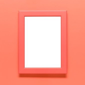 Template of blank frame on colored background