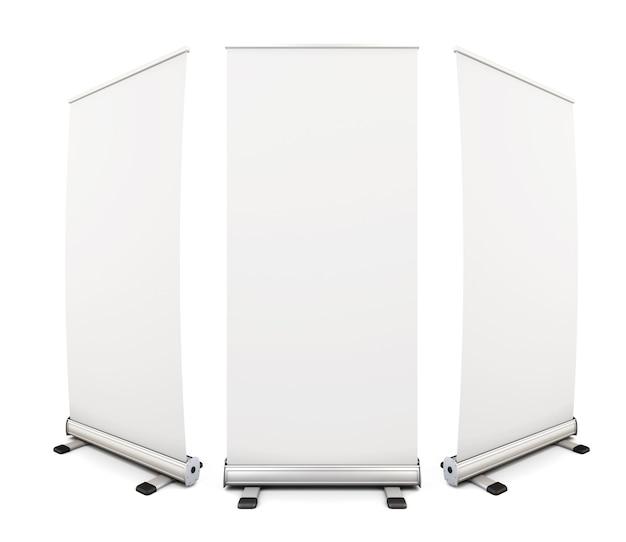 白のテンプレート空白ロールアップバナー表示