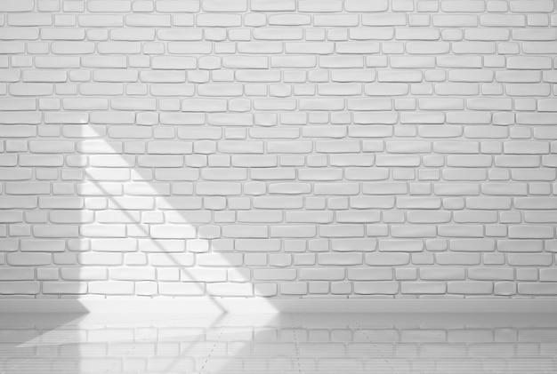 Шаблон для вашего дизайна. пустой кусок окрашенной в белый цвет кирпичной стены. 3d-рендеринг Premium Фотографии