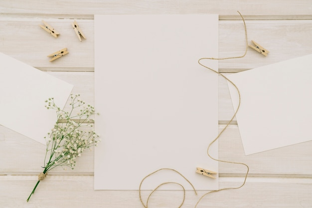 Templates, flowers, cord and clothespins