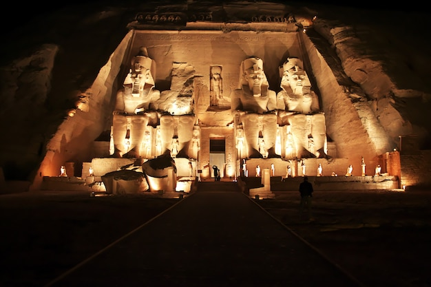 Temple in abu simbel, egypt