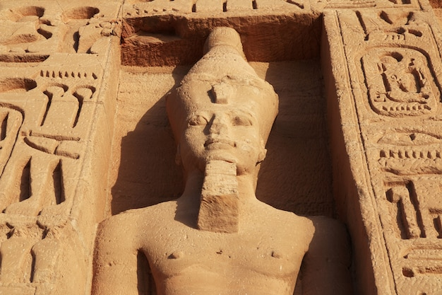 Temple in abu simbel in egypt