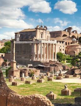 The temple of antoninus and faustina, rome, italy