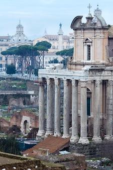 Temple of antoninus and faustina in rome, roman forum.