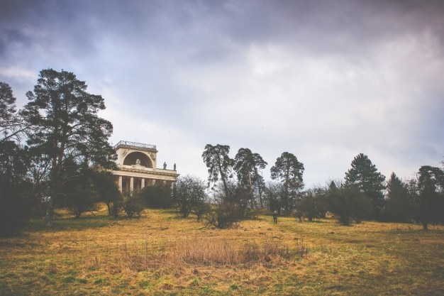 Temple on countryside