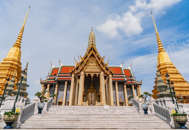 The temple of the emerald buddha or  wat phra kaew is famous place for tourists