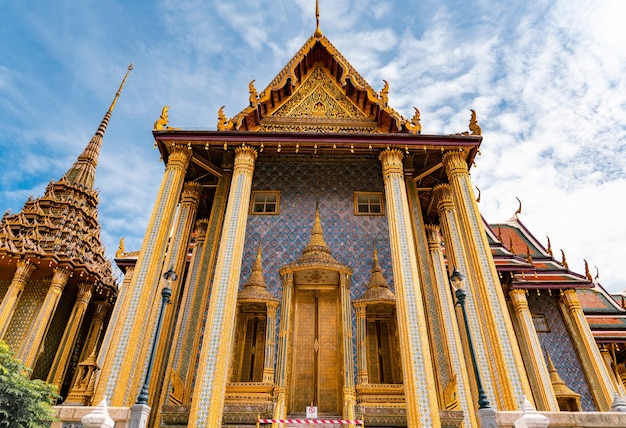 Temple of the emerald buddha or wat phra kaew is famous place for tourists
