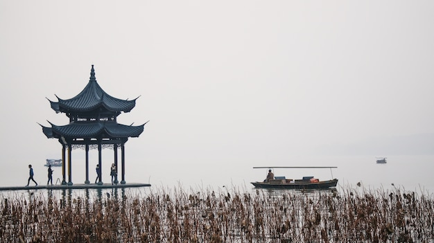 Temple in a gray day