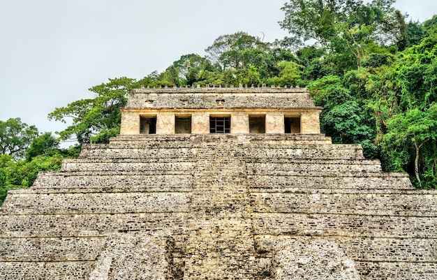Temple of the inscriptions at the maya city of palenque in mexico