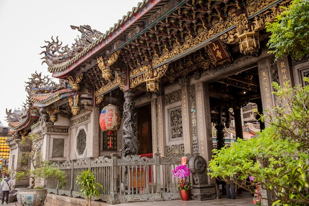 The temple of longshan in downtown taipei in taiwan